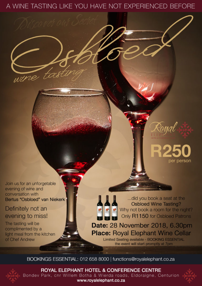 Osbloed Wine Tasting – November 2019