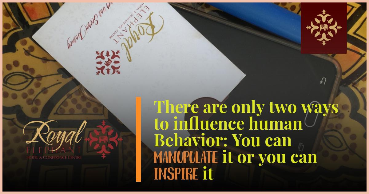 Manipulation vs Inspiration