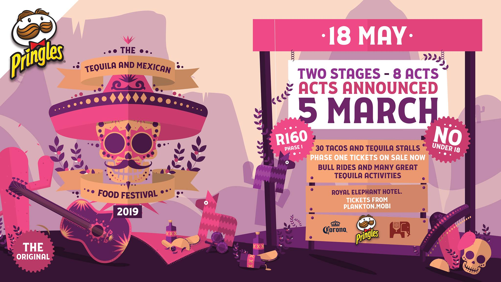 The Tequila & Mexican Food Festival 2019 – 18 May 2019