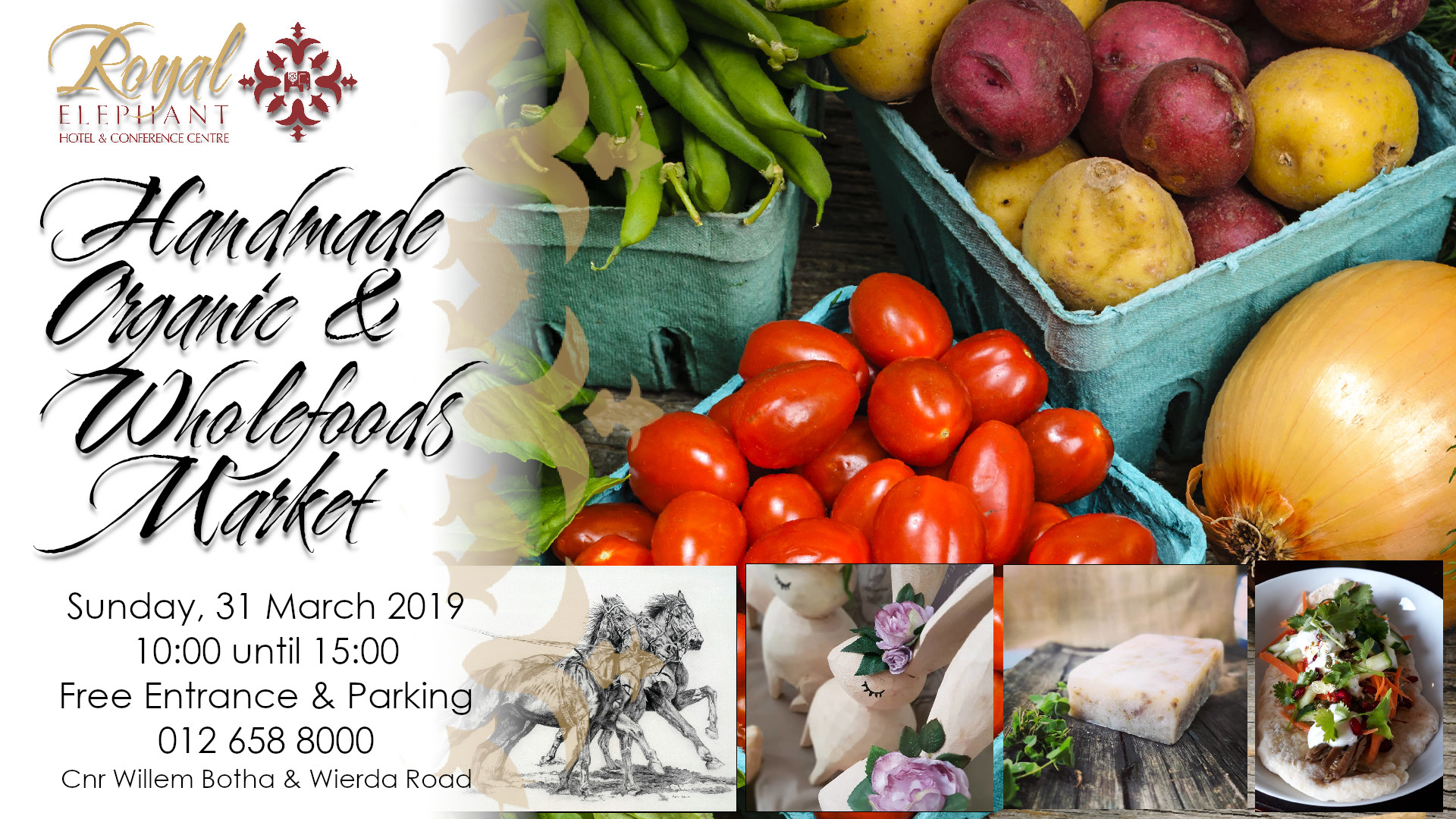 Handmade, Organic & Whole foods Market – 31 March 2019