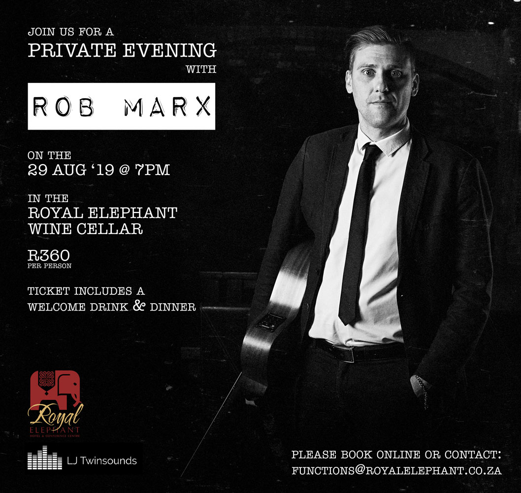 A Private Evening with Rob Marx – 29 August 2019