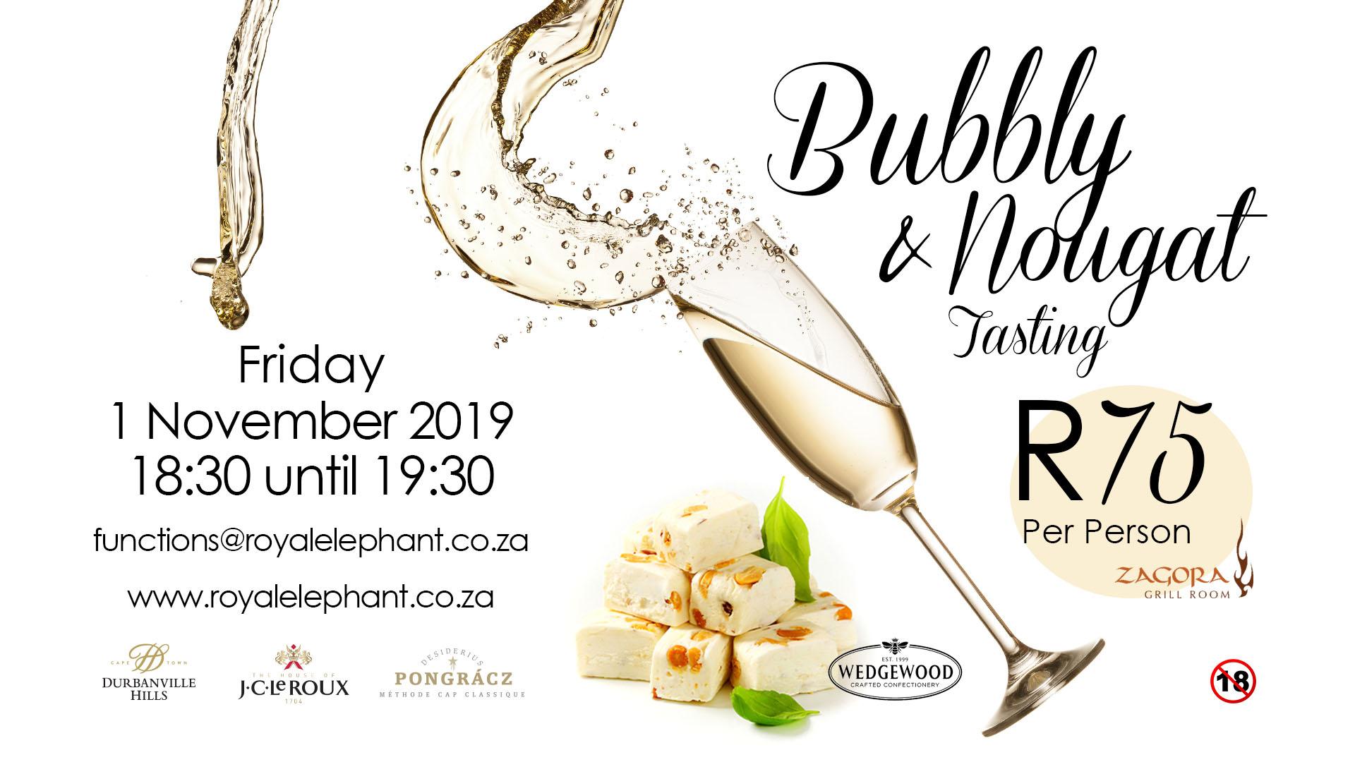Bubbly & Nougat Tasting – 1 November 2019