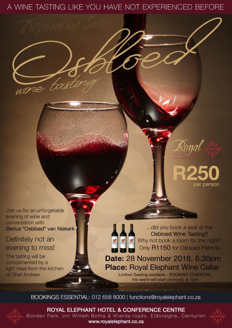 Osbloed Wine Tasting – November 2019