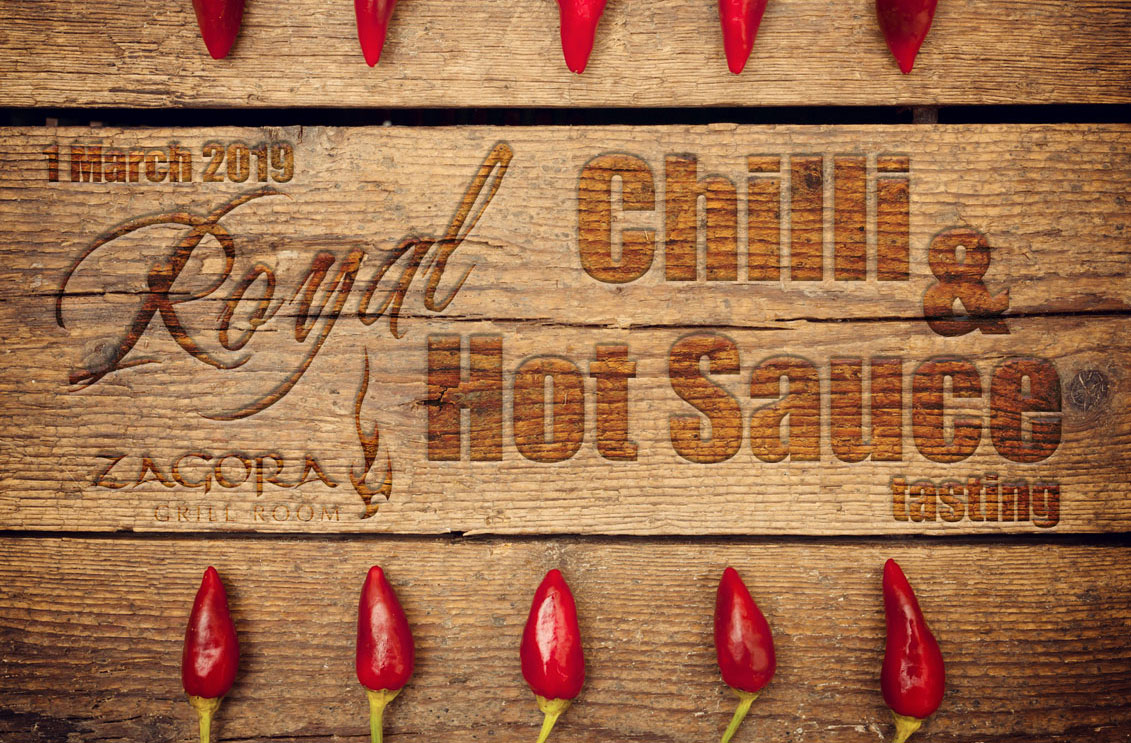 Chilli & Hot Sauce Tasting – 1 March 2019
