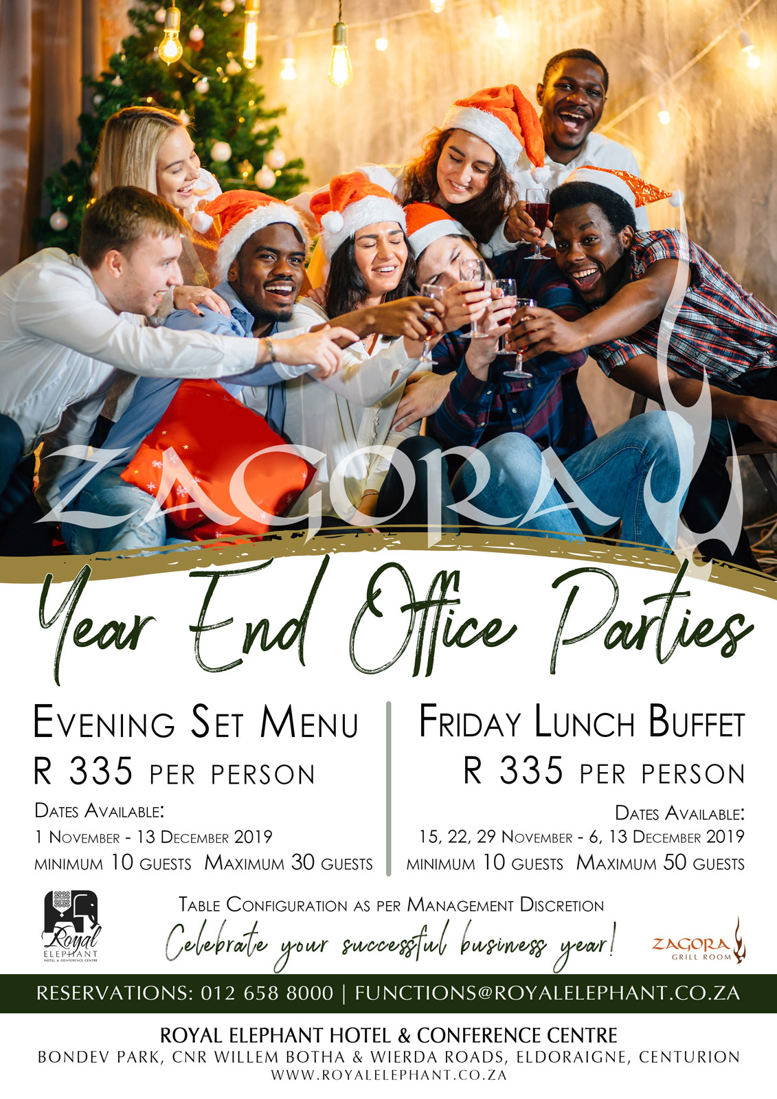 Year-End Office Party at Zagora Grill Room