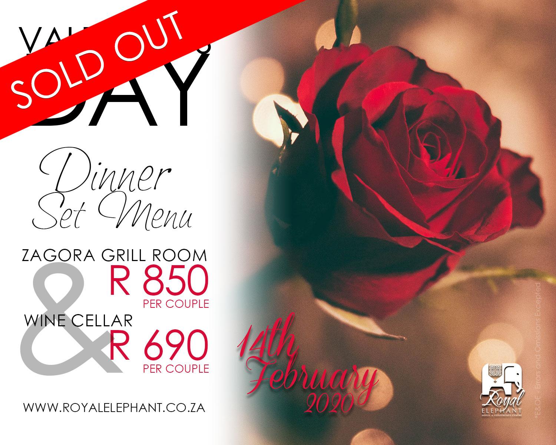 Valentines Specials – DINNER ONLY – (14 Feb 2020)
