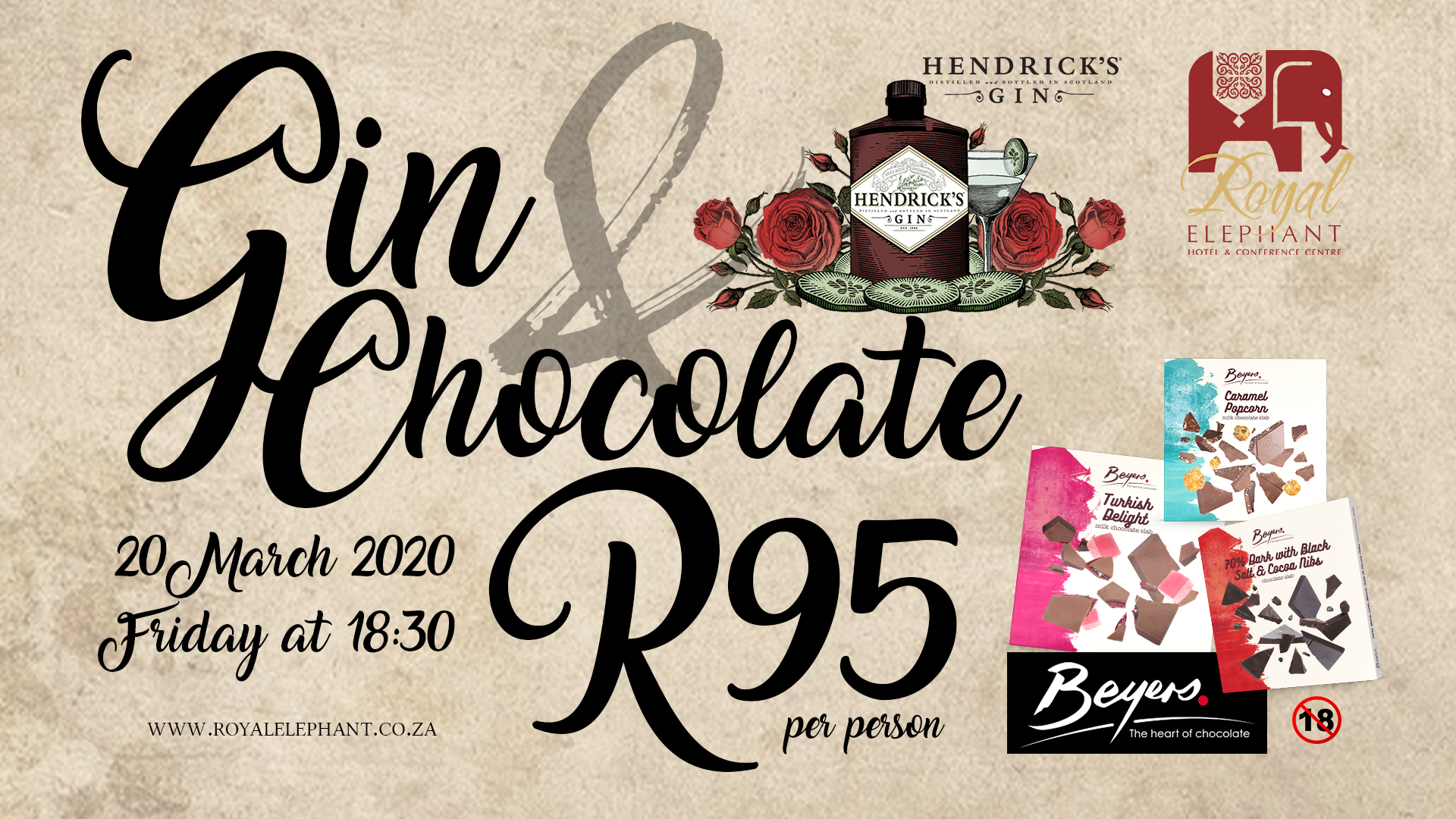 Gin & Chocolate Tasting – 20 March 2020