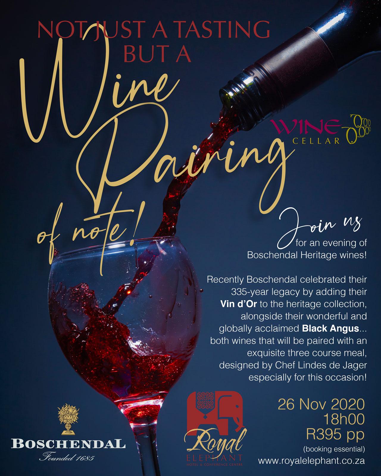 Boschendal Wine Pairing – 26 November 2020