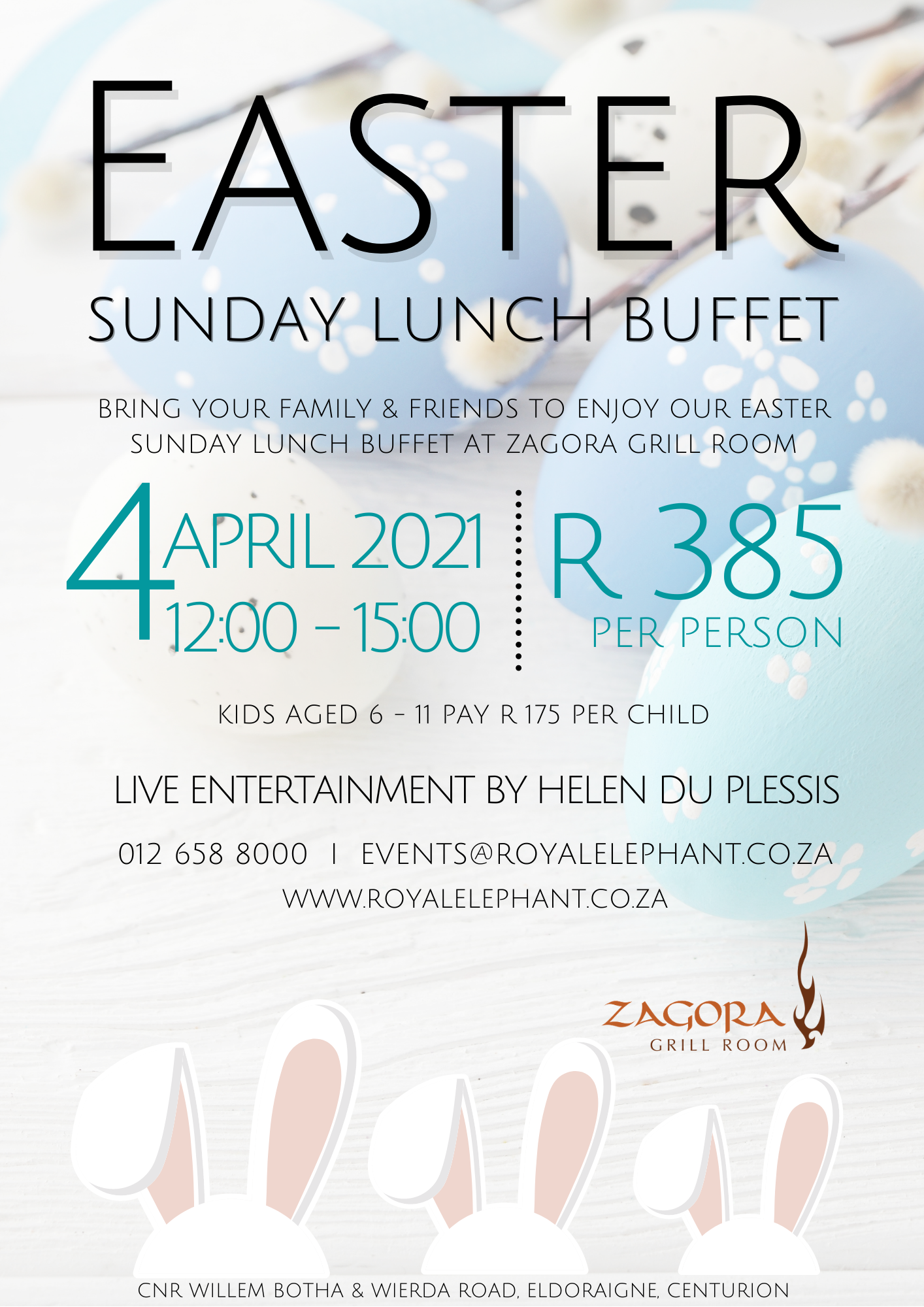 Easter Sunday Buffet at Zagora Grill Room