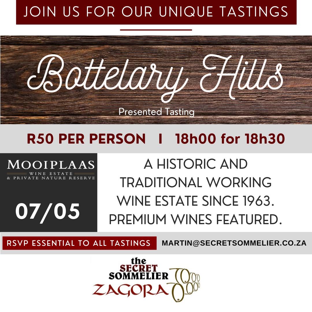 Secret Sommelier – Bottelary Hills Presented Tasting – 07 May 2021