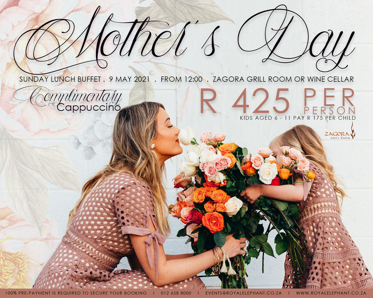 Mother's Day – 9 May 2021 – FULLY BOOKED