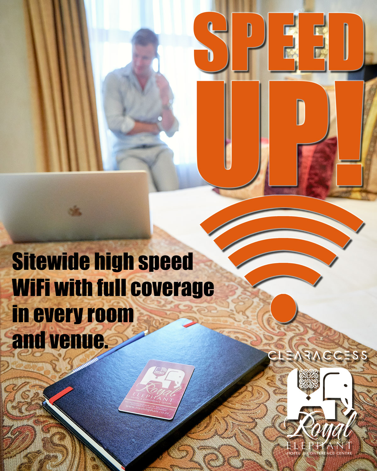 Upgraded Wifi and Internet Access at the Royal Elephant Hotel and Conference Centre