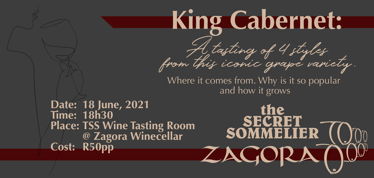 Secret Sommelier Presented Tasting: King Cabernet (18th June 2021)